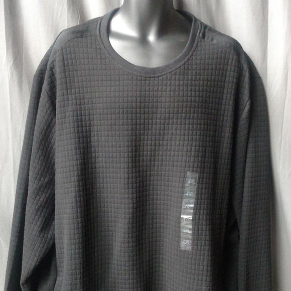 Sean John Men's Textured Black Sweater 4XL